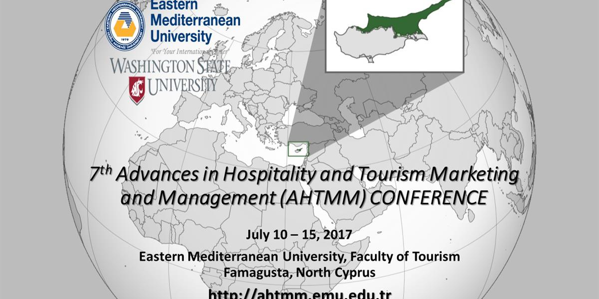 7th Advances in Hospitality and Tourism Marketing and Management (AHTMM) conference